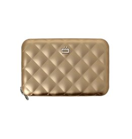 Ogon Designs Dames Creditcardhouder Quilted Zipper Rose Gold