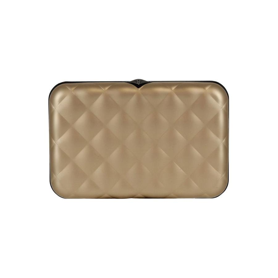 Ogon Dames Creditcardhouder Quilted Button Rose Gold