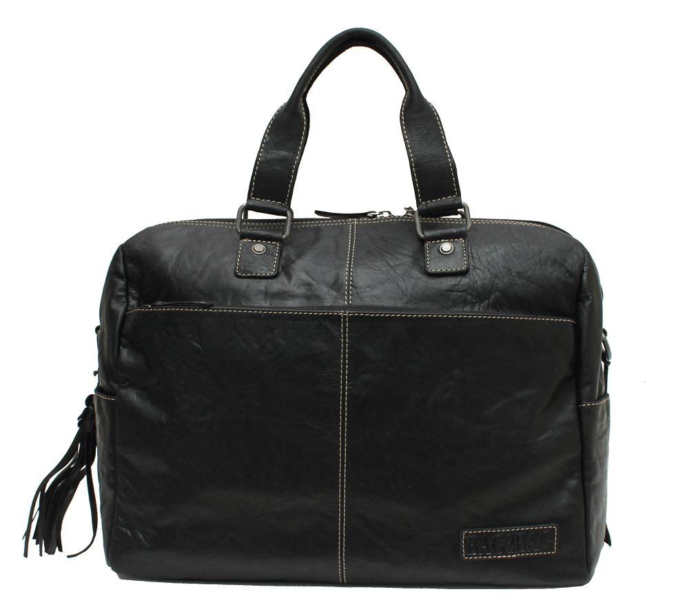 Bag2Bag Nashville Stoere Laptoptas Weekendtas Black
