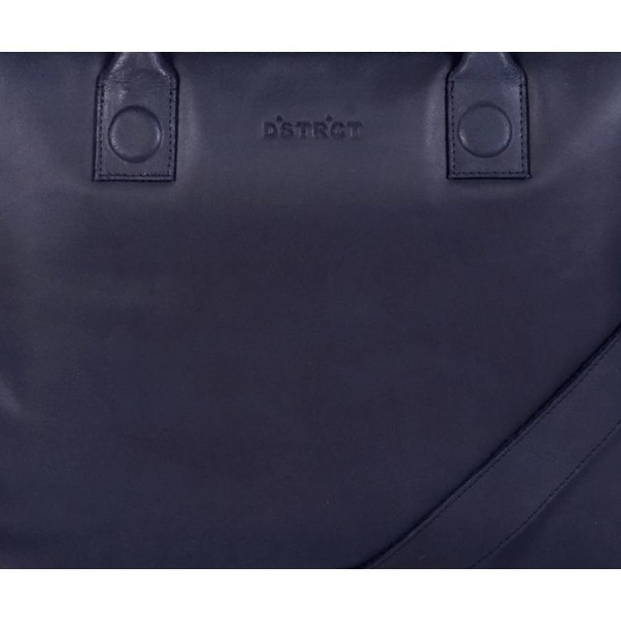 DSTRCT Fletcher Street Leren Business Laptoptas 15,6 inch Black