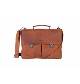 DSTRCT Wall Street A4 Laptoptas 15,4 inch Cognac