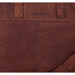 DSTRCT Wall Street Leren Business Laptoptas 15,6 inch Brown