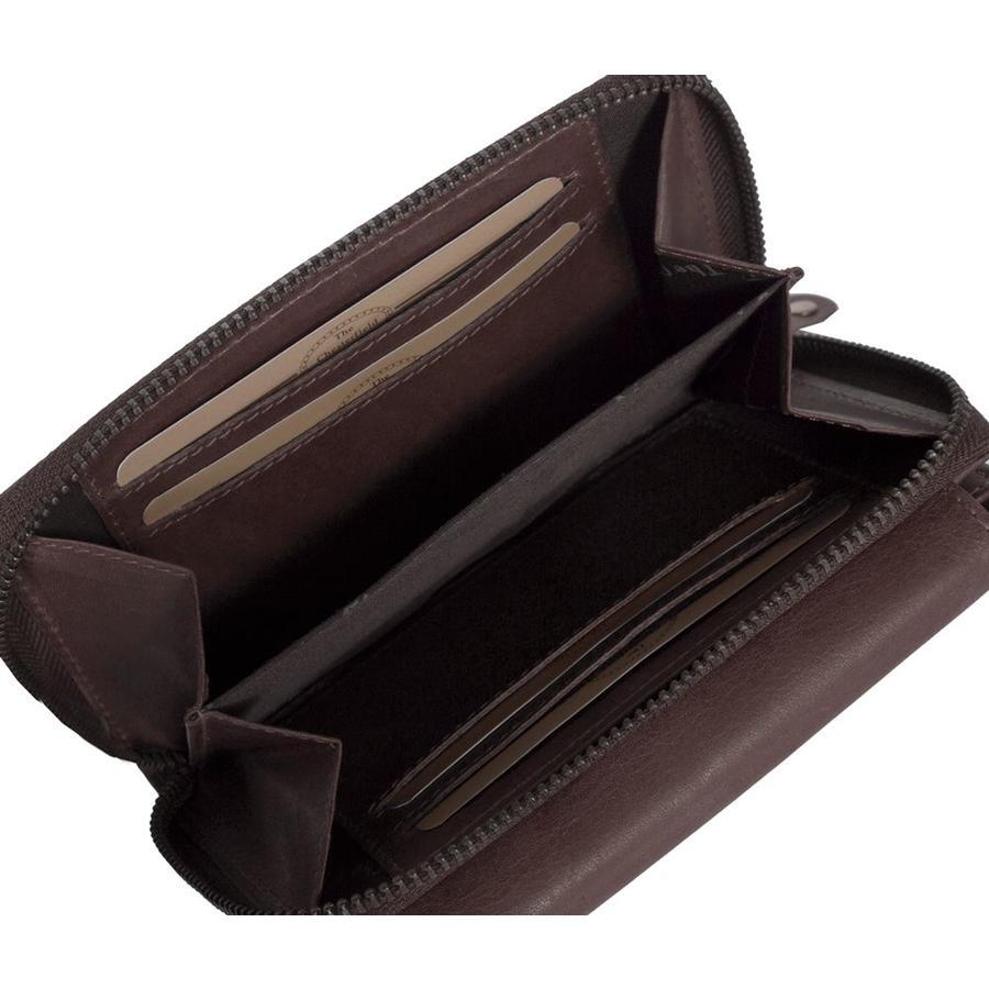 Chesterfield Compacte Leren dames portemonnee met ritsvak Ascot Bruin