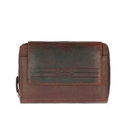 Chesterfield Leren dames portemonnee met ritsvak Ascot Bruin