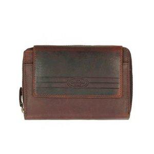 Chesterfield Chesterfield Compacte Leren dames portemonnee met ritsvak Ascot Bruin