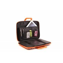 Bombata Croco 15 inch Hardcase Laptoptas Terracotta