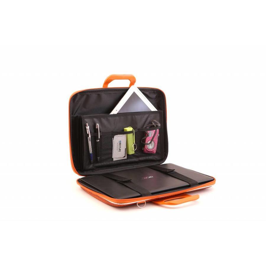 Bombata Croco Hardcase Laptoptas 15,6 inch Terracotta