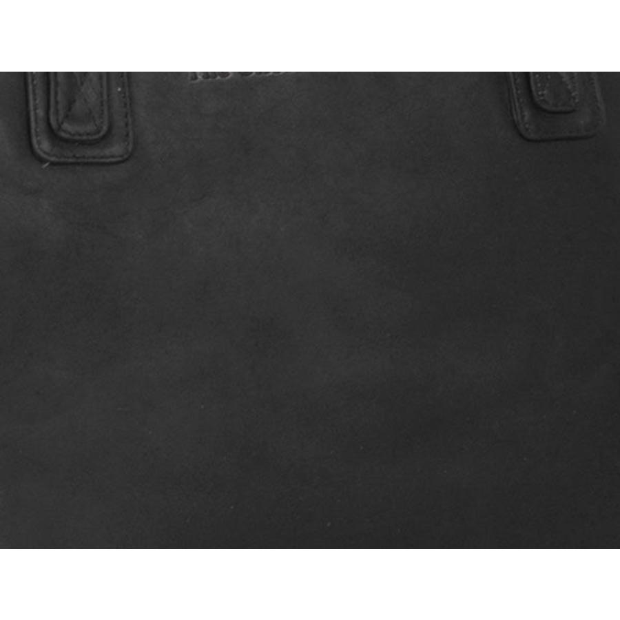 Chesterfield Leren Dames Laptoptas 13 inch Schoudertas Flint Black