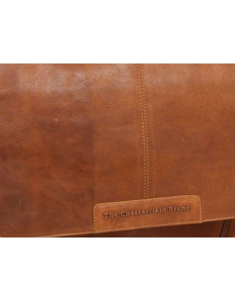 Chesterfield Leren 15 inch Laptoptas Schoudertas Richard Cognac