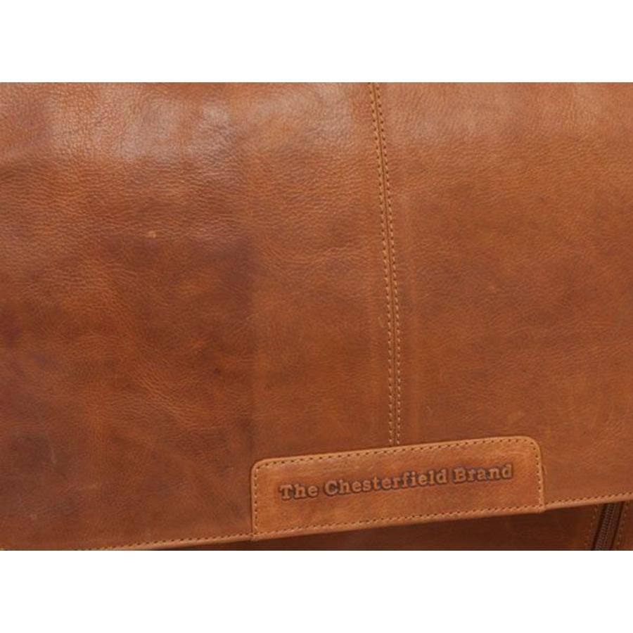 Chesterfield Leren 15 inch Laptoptas Schoudertas Richard Cognac