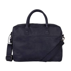 DSTRCT Wall Street Leren Business Laptoptas 15,6 inch Black
