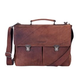 DSTRCT Wall Street A4 Laptoptas 15,4 inch Brown