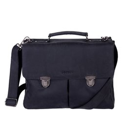 DSTRCT Wall Street A4 Laptoptas 15,4 inch Black