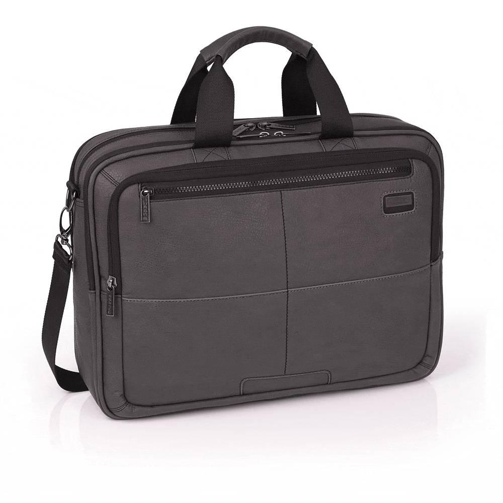 GABOL Heren zakentas 3 vaks briefcase Laptoptas STUDIO 15,6 zwart