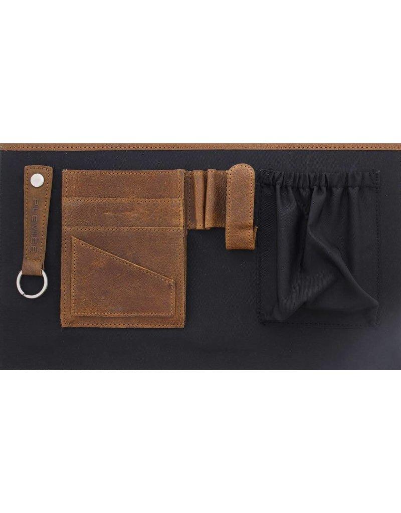 """Plevier Tote Laptop Bag Dames Volnerf Rundleer 1-vaks 15.6"""" Cognac"""