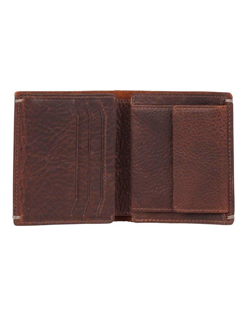 Burkely Heren Billfold Portemonnee High Coin Bruin