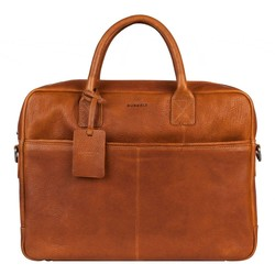 BURKLEY Antique Avery Laptoptas Cognac