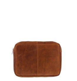 """Plevier Leren Laptop sleeve 12"""" cognac"""