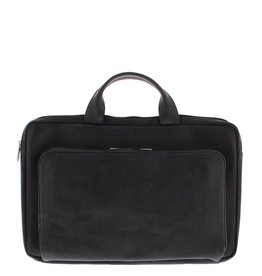 "Plevier Leren Laptop sleeve 17,3"" Zwart"