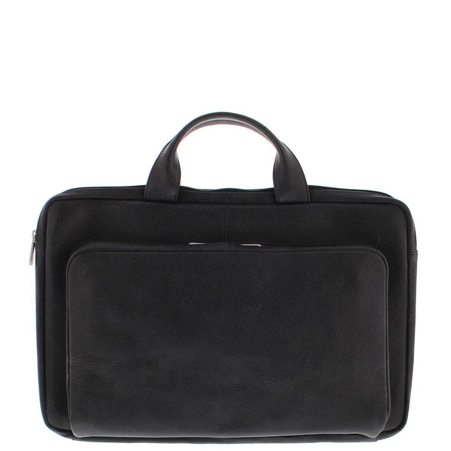 "Plevier Leren Laptophoes 17,3"" laptop Zwart"