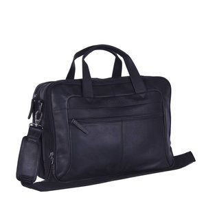 Chesterfield Chesterfield Bags Leren Laptoptas 17 inch Ryan Zwart