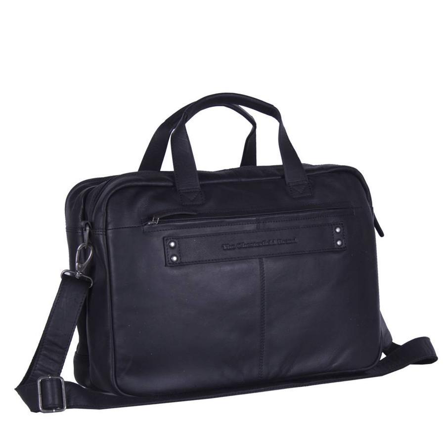 Chesterfield Bags Leren Laptoptas 17 inch Ryan Zwart