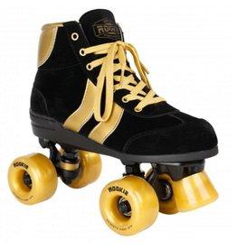 Rookie Authentic V2 zwart goud rolschaatsen