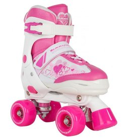 Rookie Adjustable Skate Pulse Junior roze rolschaatsen meisjes