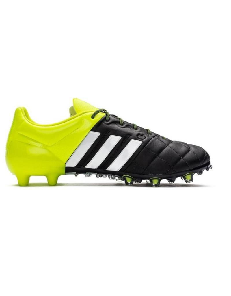 Adidas Adidas Ace 15.1 FG/AG Leather zwart geel voetbalschoenen heren (B32818)