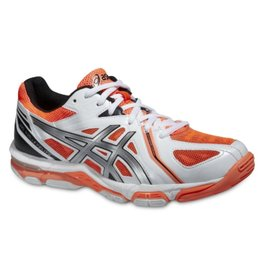 Asics Gel Volley Elite 3 wit neon oranje volleybalschoenen dames