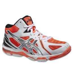 Asics Gel Volley Elite 3 MT wit neon oranje volleybalschoenen dames