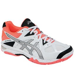 Asics Gel Tactic wit neon oranje indoor schoenen dames
