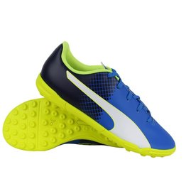 Puma evoSPEED 5.5 TT Jr blauw voetbalschoenen kids