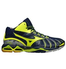 Mizuno Wave Tornado X Mid geel indoor schoenen heren