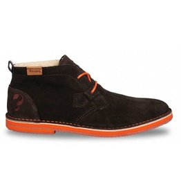 Quick Sorano II dark brown orange heren schoenen
