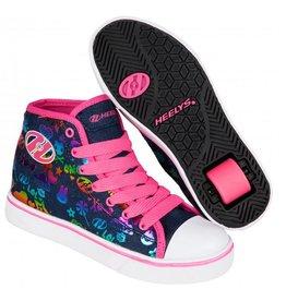 Heelys Veloz blauw roze sneakers meisjes