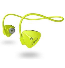 Avanca sportaccessoires D1 draadloze sport headset neon geel uni
