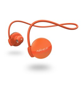 Avanca sportaccessoires S1 draadloze sport headset oranje uni