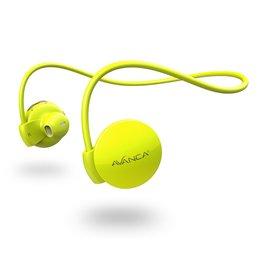 Avanca sportaccessoires S1 draadloze sport headset neon geel uni