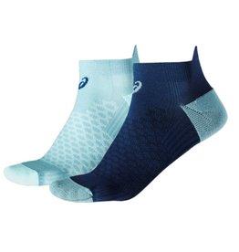 Asics Hardloopsokken (2 paar) grijs blauw laag dames