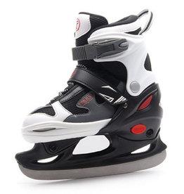 Raps Kids Ice zwart wit verstelbare ijshockeyschaatsen