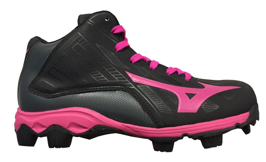 Mizuno Mizuno 9-Spike Advance Franchise Mid 8 zwart outdoor schoenen meisjes