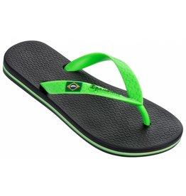 Ipanema Classic Brasil zwart groen slippers heren