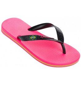Ipanema Classic Brasil roze zwart slippers meisjes
