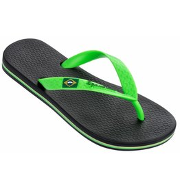 Ipanema Classic Brasil zwart groen slippers kids