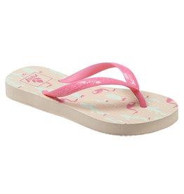 Reef Little Escape Print flamingos slippers meisjes