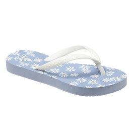 Reef Little Escape Print light blue daisy slippers meisjes