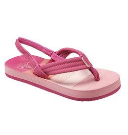 Reef Little AHI pink stripes slippers meisjes