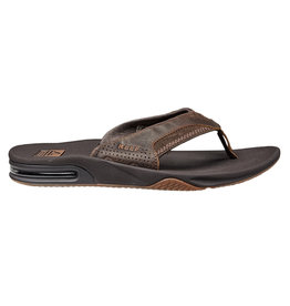 Reef Leather Fanning brown slippers heren