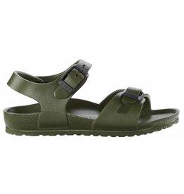 Birkenstock Rio Eva donkergroen slippers kids
